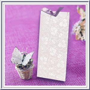 10 Blank Dandy White (Bright White) Broderie Pocket Invitations