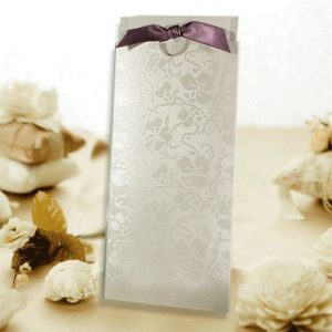 10 Blank Ivory (Off White) Broderie DL Pocket Invitations