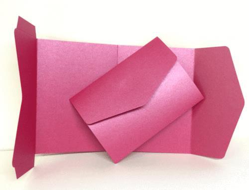 10 Azalea Pink A6 DIY Pocketfold Invitations