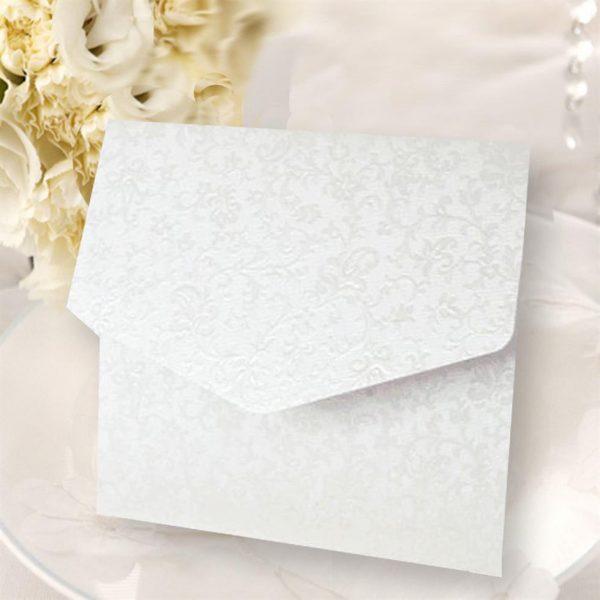 10 Dandy White Applique Square Pocketfolds