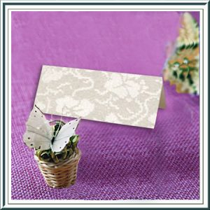 20 Ivory Broderie Name Place Table Cards
