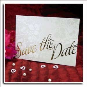 10 Ivory Broderie Save The Date Wedding Cards