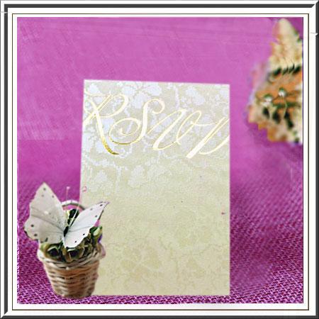 Broderie RSVP Wedding Cards