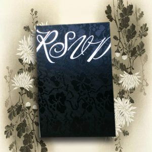 10 Black Broderie RSVP Wedding Cards