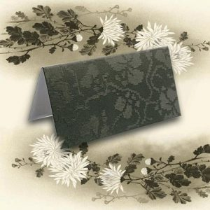 Black Broderie Wedding Name Place Cards