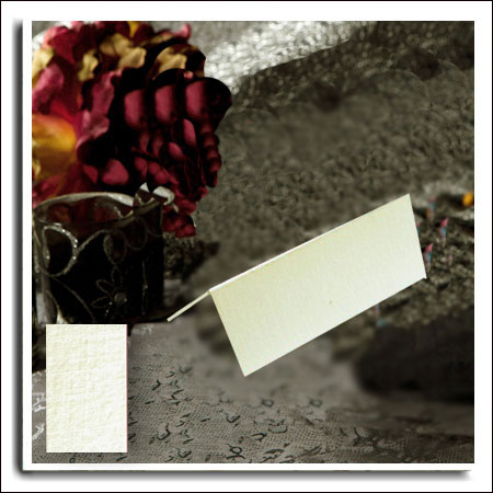 Ivory Linen Wedding Name Place Cards