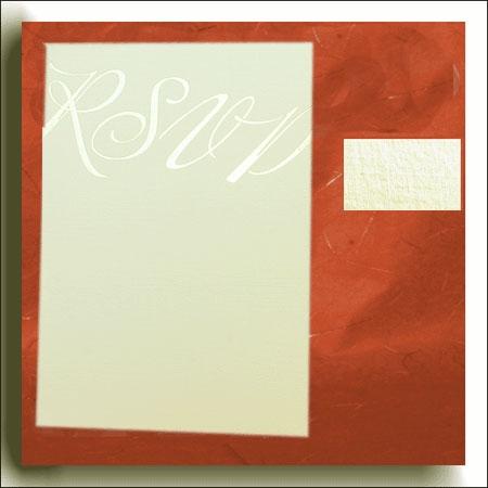 Linen Pale Ivory Wedding RSVP Cards