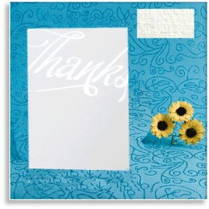 White Linen Texture Wedding 'Thanks' Cards