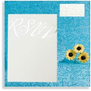 10 Linen White Wedding RSVP Cards