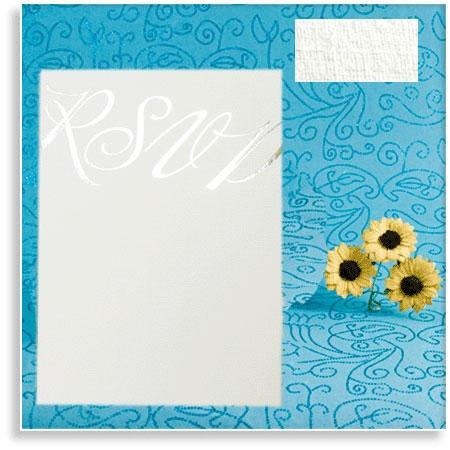 Linen Wedding RSVP Cards