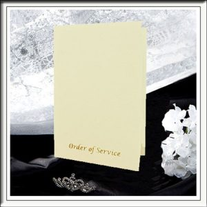 Ivory Textured Order of Service/Wedding Programmes