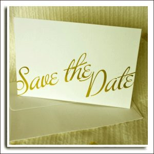 10 Ivory Textured Wedding Save The Date Cards