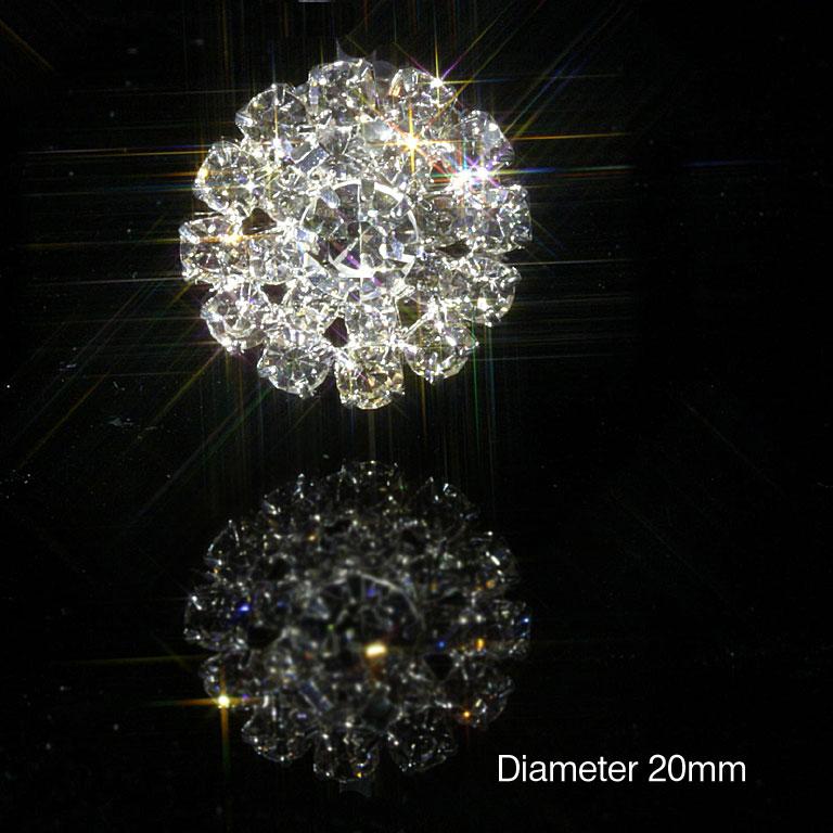 Round Rhinestone Diamante Embellishments