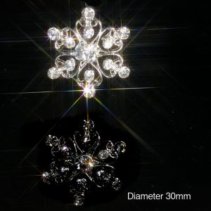 Filigree Flower Diamante Embellishments With Rhinestone Crystals