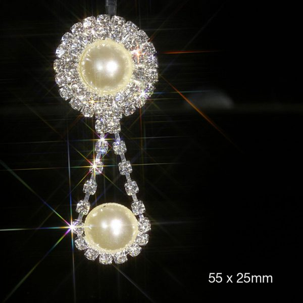 10 Pearl and Diamante Embellishment Drop Pendants