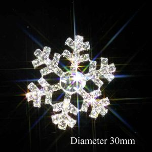 Diamante Snowflake Embellishment Ideal For Winter Weddings SMALL