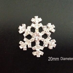 10 Diamante Snowflake Embellishments Ideal For Winter Weddings MINI