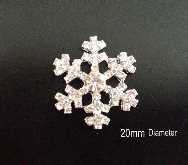 10 Diamante Snowflake Embellishments Ideal For Winter Weddings MINI