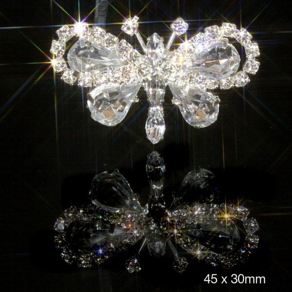 10 Butterfly Diamante Embellishments