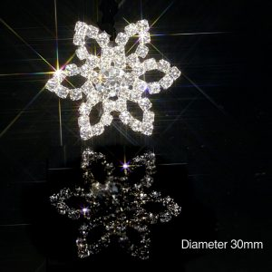 Large Flower Diamante Embellishments Rhinestone Crystals