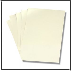 10 Frost White Paper Inserts for Mini Pockets