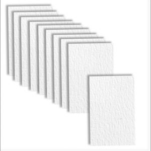 10 Gesso White Textured Paper Inserts for Mini Pocket