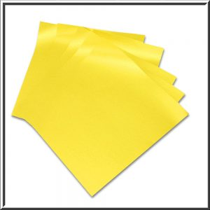10 Gold Pearlescent Double Sided Paper Inserts 130 x 130 mm