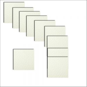 White Textured Square Paper Inserts 130 x130 mm