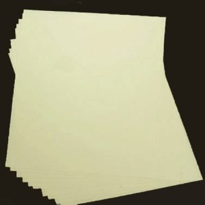 10 Ivory Textured Square Paper Inserts 135 x 135mm