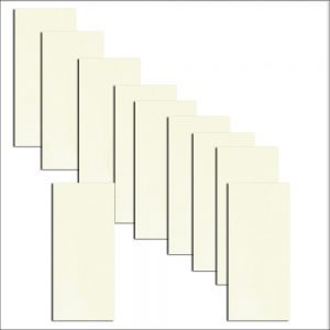 10 Gesso White Textured DL Paper Inserts To Fit Hakana & Inari