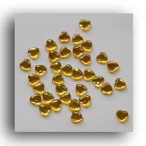 Gold Heart Crystals 6mm. 100 Per Pack