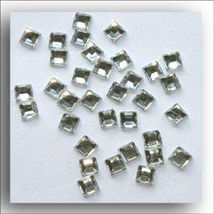 Clear Mini Square Crystals