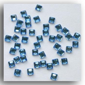Pale Blue Mini Square Crystals
