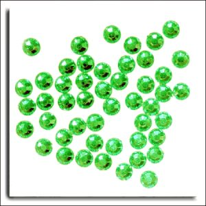 Green Round Crystals 4mm. 100 Per Pack