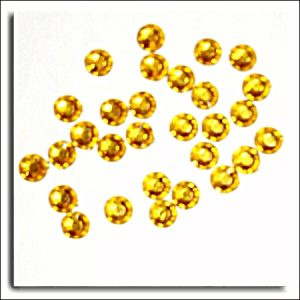 Gold Round Crystals 4mm. 100 Per Pack