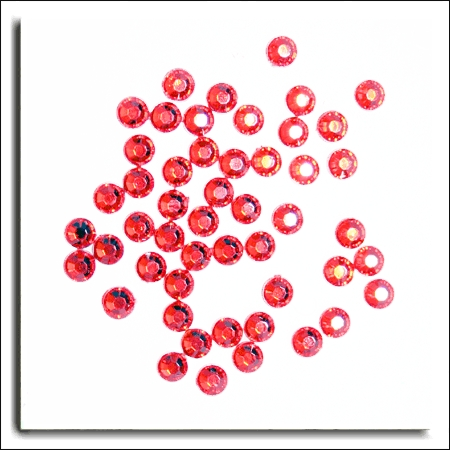 Red Round Crystals 4mm. 100 Per Pack