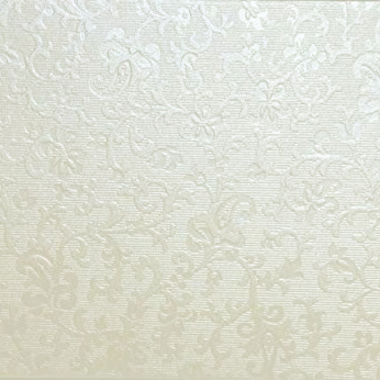 A4 Tapestry Ivory (Cotton White) Applique Embossed Card Stock
