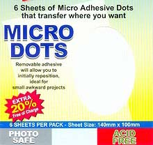 Micro Dots - 140mm x 100mm - PERMANENT