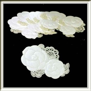 Double Flower Laser Cut Wedding Card Topper Embellishments