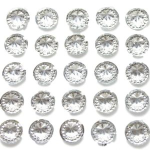 Asti 40 Self Adhesive Round Embossed wth Mini Crystals 12 mm