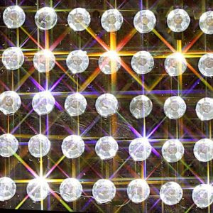 100 Clear Self Adhesive Round Crystals 4mm