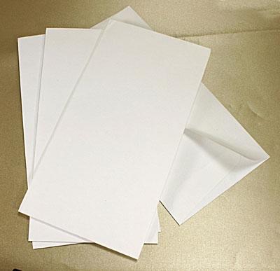10 Textured White DL Envelopes