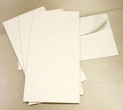 10 Ivory Textured DL Envelopes