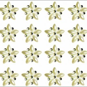 Luni Mini Pearl & AB Crystal Self Adhesive Flowers 24 per sheet