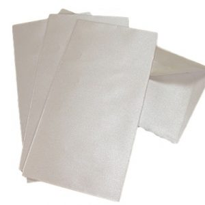10 Frosty White Pearlescent DL Envelopes