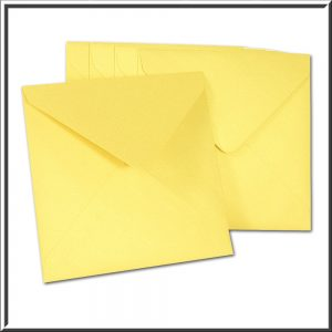 10 Square Pearlescent Gold Envelopes