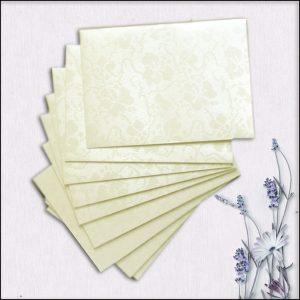 10 Ivory Broderie Mini Wallet Envelopes