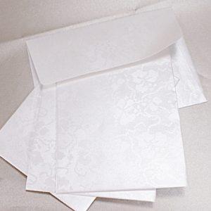 10 Tapestry Dandy White Broderie C6 Self Seal Envelopes