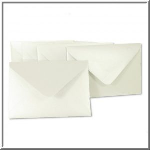 C6 Frosty White Pearlised Envelope 120gsm 10 per pack