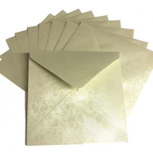 10 Ivory Broderie Square Envelopes